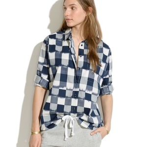 MADEWELL | Ikat Plaid Oversized Button Down Shirt